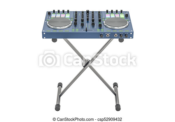 DJ Console On Stand 3D Rendering