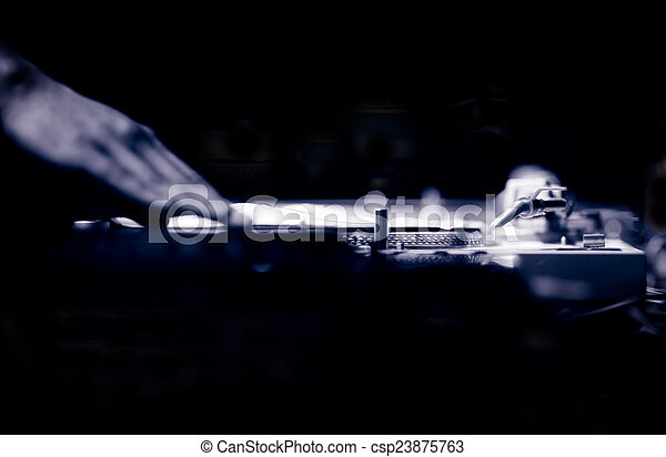 dj, deejay, ナイトクラブ, ibiza, レコード, ターンテーブル - csp23875763