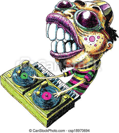 Un DJ intenso - csp18970694