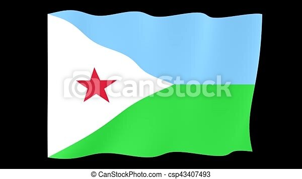 Djibouti Flag Waving Png Flag Animation For Using In Foto S En Video Useful For Editors Background Deleted With