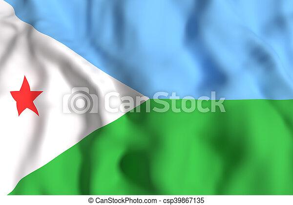 Djibouti flag waving - csp39867135