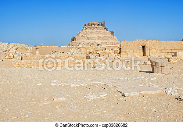 djoser, エジプト, ピラミッド - csp33826682