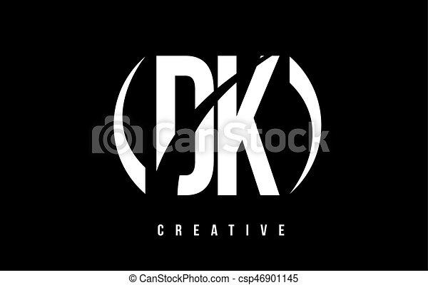dk k バックグラウンド 黒 手紙 ロゴ デザイン 白 d dk k