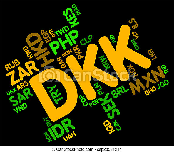 Dkk Currency Means Worldwide Trading And Coinage Dkk Currency