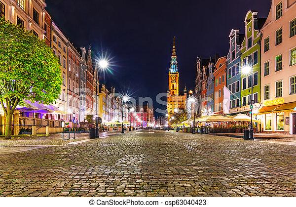 Dlugi Targ Square in Gdansk, Poland - csp63040423