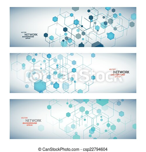 dna, ネットワーク, 色, 接続, ベクトル, 原子 - csp22794604
