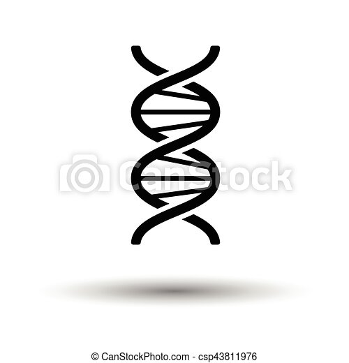 Dna Icon White Background With Shadow Design Vector Illustration
