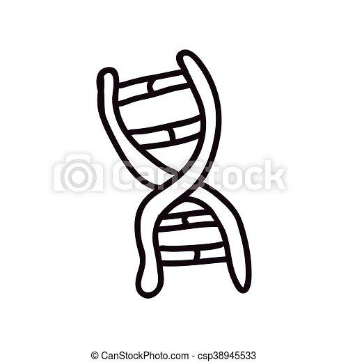 Dna icon. Sketch and science design. Vector graphic - csp38945533