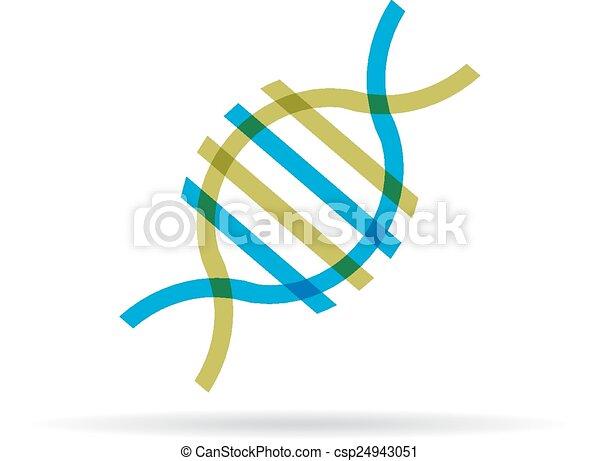 DNA molecule icon - csp24943051