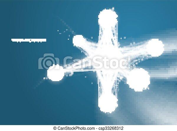 DNA molecule structure background.  - csp33268312