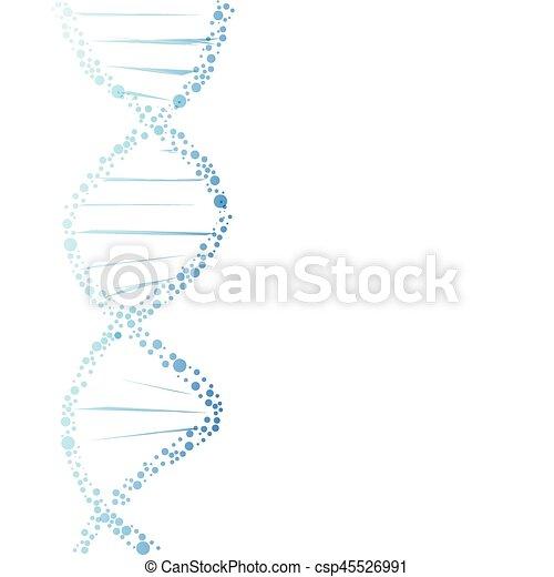 DNA molecule structure - csp45526991