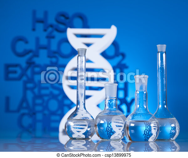 DNA molecules, Laboratory glassware - csp13899975