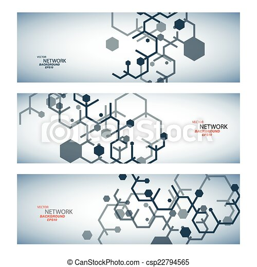 dna, netwerk, kleur, verbinding, vector, atoom - csp22794565