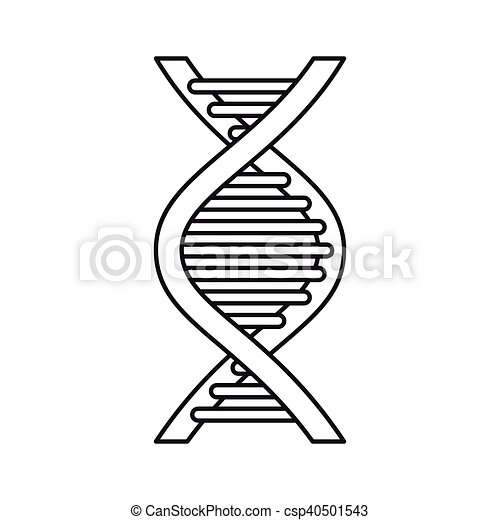 Dna Strand Icon Outline Style Icon In Outline Style On A White