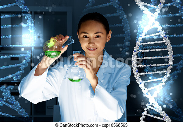 DNA strand illustration - csp10568565