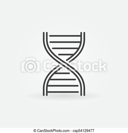 DNA strand vector outline icon - csp54129477