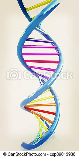 Dna structure model 3d illustration vintage style ccuart Gallery