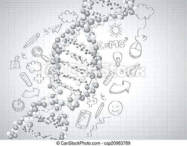 dns, -, spirale, moleküle, hintergrund - csp20963789