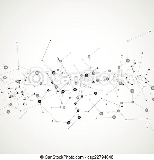 dns, vernetzung, farbe, anschluss, vektor, atom - csp22794648