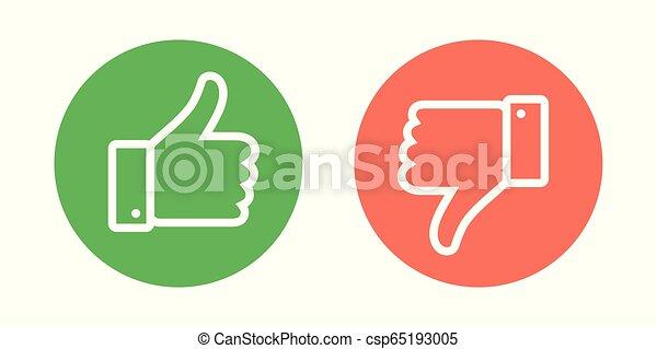 Japanese symbols thumbs down