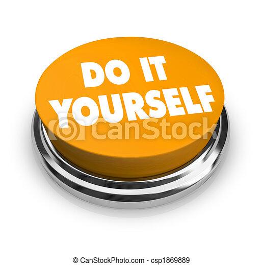 Do it yourself orange button a orange button with the stock do it yourself orange button stock illustration solutioingenieria Images