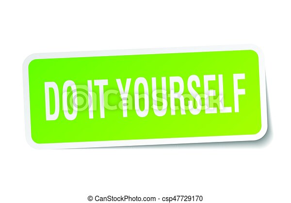 Do it yourself square sticker on white vectors illustration search do it yourself square sticker on white csp47729170 solutioingenieria Images