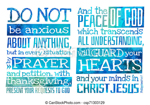 do not be anxious about anything philippians poster