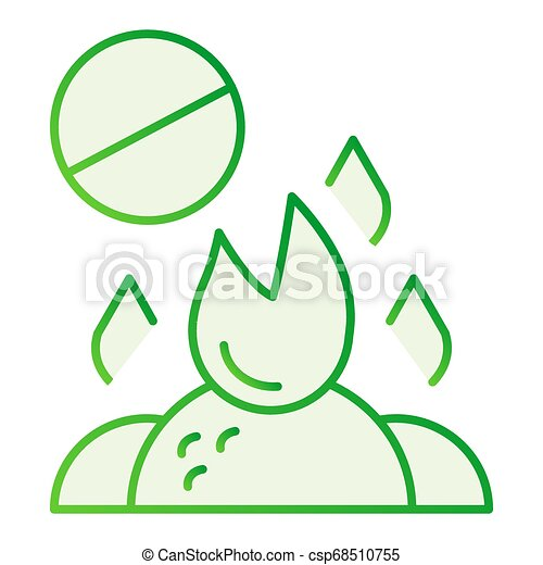 Do not burn waste flat icon. Burning garbage ban gray icons in trendy flat style. Forbidden bonfire gradient style design, designed for web and app. Eps 10. - csp68510755