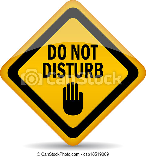 do not disturb vector sign clip art vector search drawings and rh canstockphoto ie