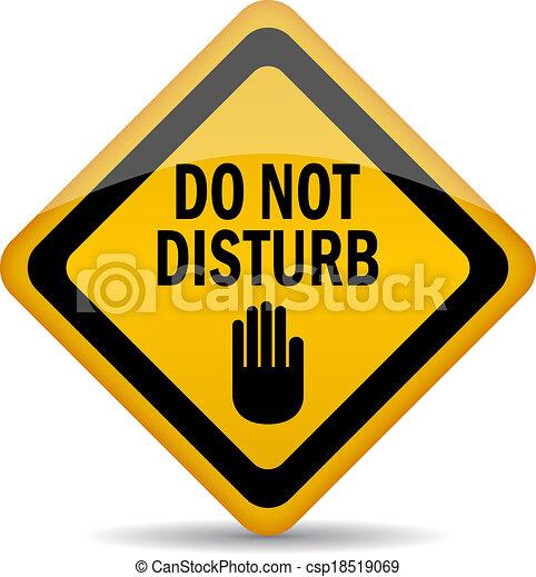 do not disturb vector sign rh canstockphoto com clipart do not disturb do not disturb sign clipart