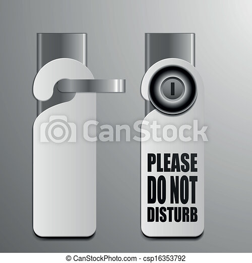 do not disturb door handles - csp16353792