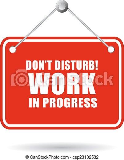 do not disturb work in progress rh canstockphoto com Do Not Disturb Sign clipart do not disturb