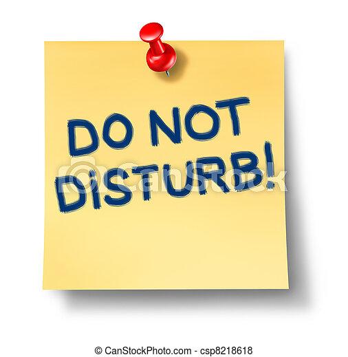Do Not Disturb Note - csp8218618