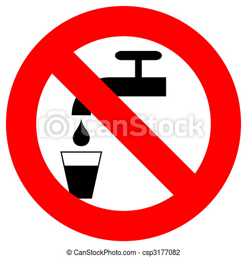 Do Not Drink Sign Red And Black Over White Clip Art Search