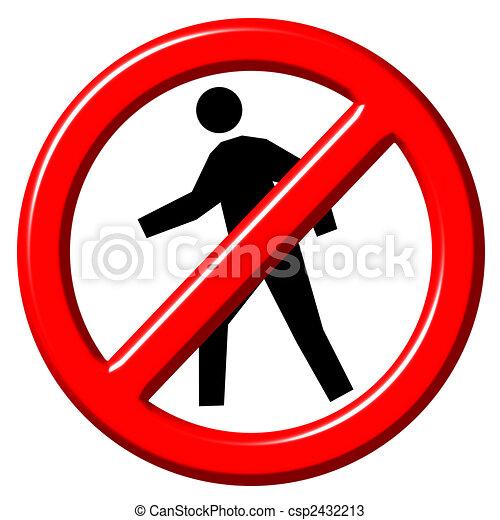 Do Not Enter 3d sign - csp2432213