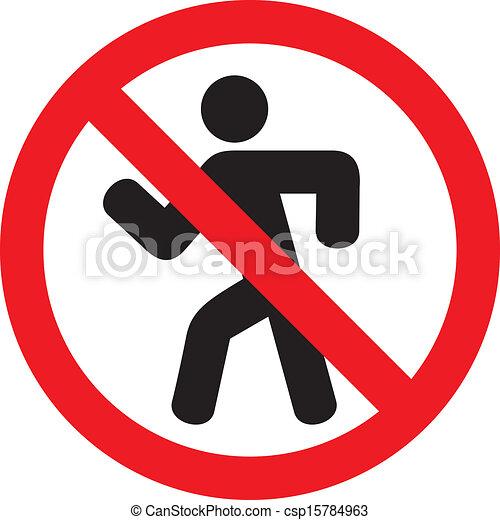 do not enter sign - csp15784963