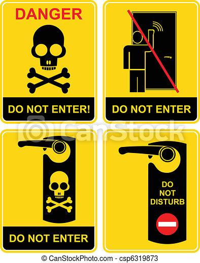 Do not enter - sign - csp6319873