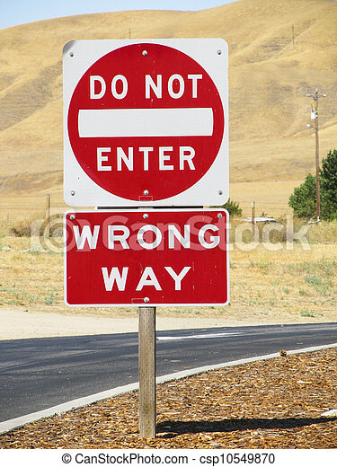 do not enter wrong way do not enter wrong way sign in a rest area