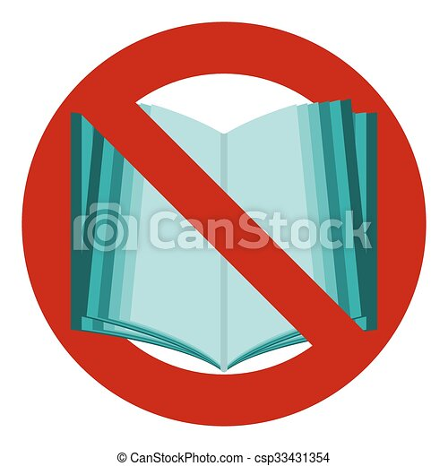 Do Not Read Icon The Symbol Of The Open Book No Stop Banned