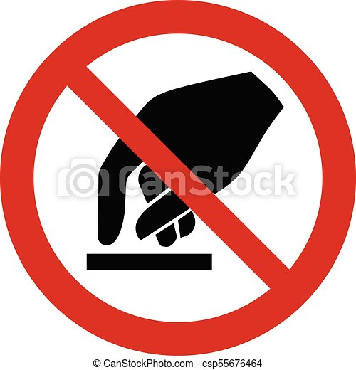 Prohibition Sign Do Not Touch Symbol Vector Clip Art Vector