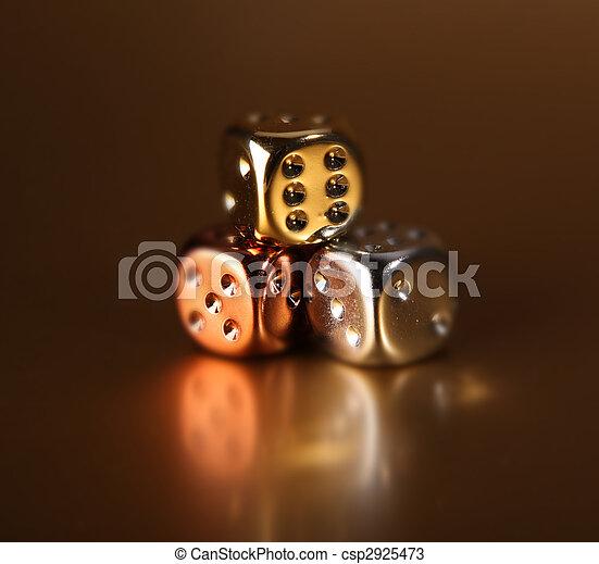 dobókocka, játszik, kockáztat - csp2925473