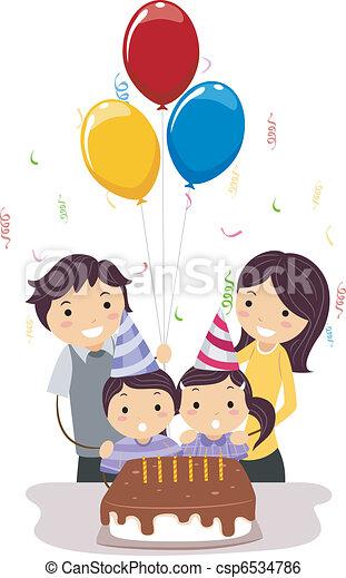Doble celebración - csp6534786