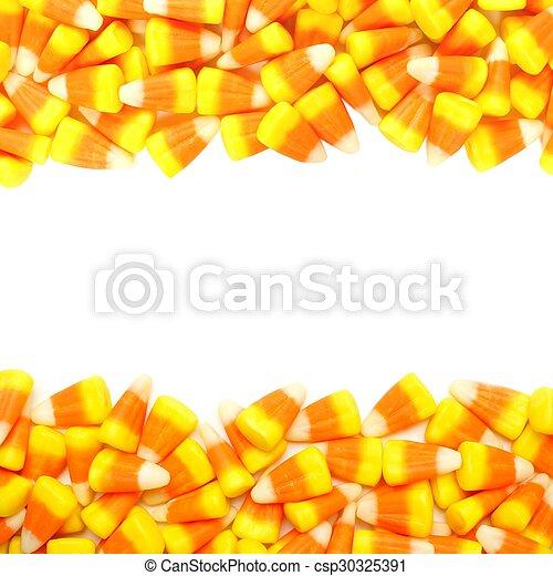 La doble frontera de caramelos de Halloween - csp30325391