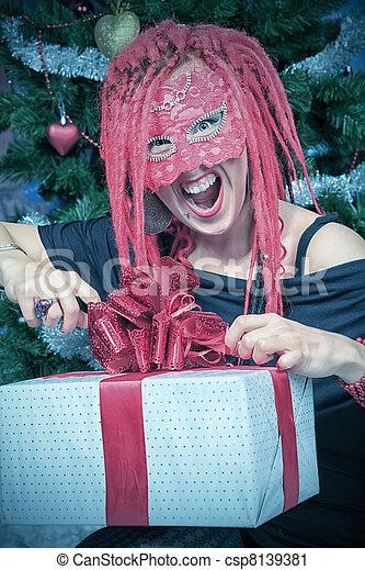 doboz, karácsony - csp8139381