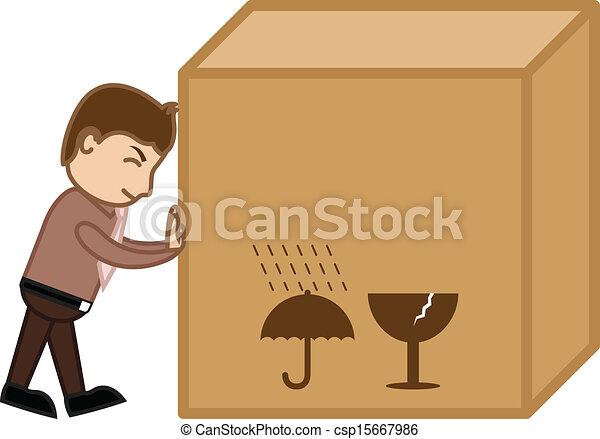 doboz, rakomány, nagy, rámenős, vektor, ember - csp15667986