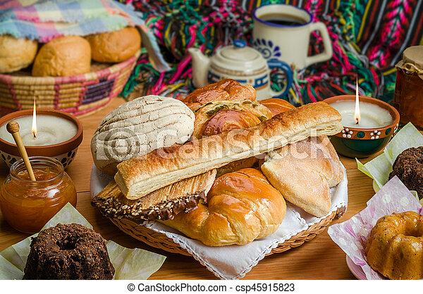 doce, mexicano, pão - csp45915823