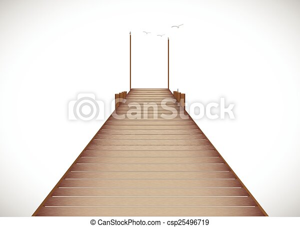 Dock Illustration - csp25496719