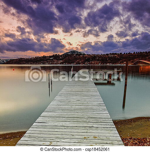 Dock on the Water - csp18452061