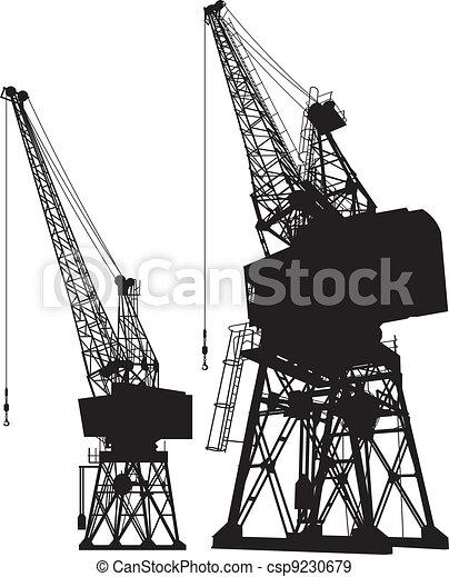 Dockyard cranes - csp9230679