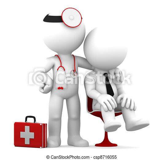 docteur, patient - csp8716055